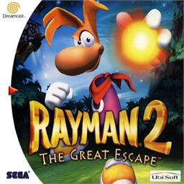 Box cover for Rayman 2: The Great Escape on the Sega Dreamcast.