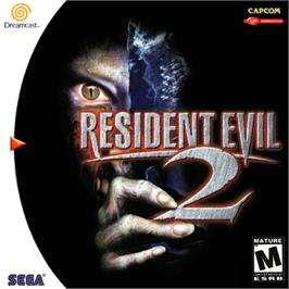 Box cover for Resident Evil 2 on the Sega Dreamcast.