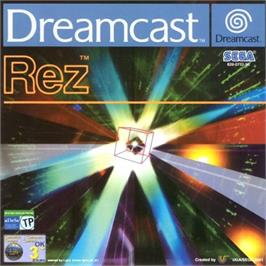 Box cover for Rez on the Sega Dreamcast.