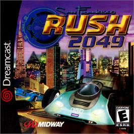 Box cover for San Francisco Rush 2049 on the Sega Dreamcast.