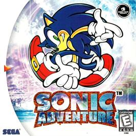 Box cover for Sonic Adventure on the Sega Dreamcast.