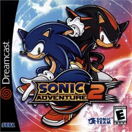 Box cover for Sonic Adventure 2 on the Sega Dreamcast.