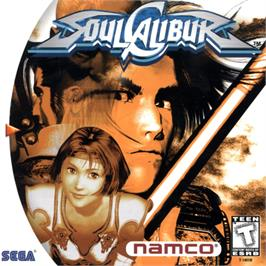 Box cover for Soul Calibur on the Sega Dreamcast.