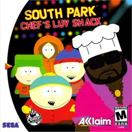 Box cover for South Park: Chef's Luv Shack on the Sega Dreamcast.