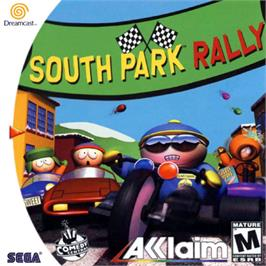 Box cover for South Park Rally on the Sega Dreamcast.