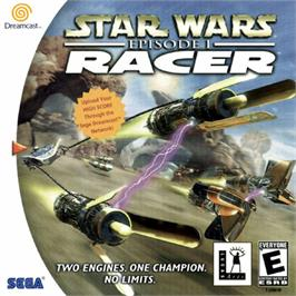 Box cover for Star Wars: Episode I - Racer on the Sega Dreamcast.