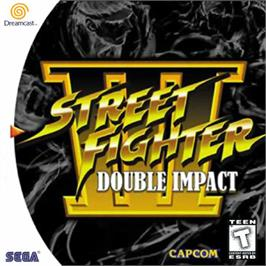 Box cover for Street Fighter III: Double Impact on the Sega Dreamcast.