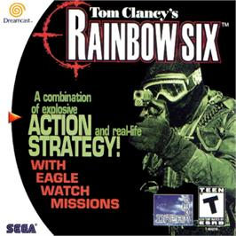 Box cover for Tom Clancy's Rainbow Six on the Sega Dreamcast.