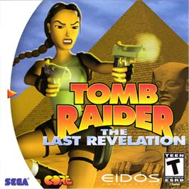 Box cover for Tomb Raider: The Last Revelation on the Sega Dreamcast.
