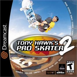 Box cover for Tony Hawk's Pro Skater 2 on the Sega Dreamcast.