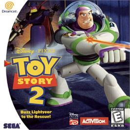 Box cover for Toy Story 2: Buzz Lightyear to the Rescue on the Sega Dreamcast.