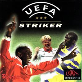 Box cover for UEFA Striker on the Sega Dreamcast.