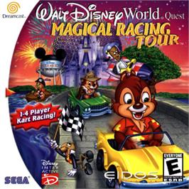 Box cover for Walt Disney World Quest: Magical Racing Tour on the Sega Dreamcast.