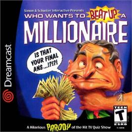 Box cover for Who Wants To Beat Up A Millionaire? on the Sega Dreamcast.