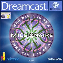 Box cover for Who Wants to Be a Millionaire? on the Sega Dreamcast.