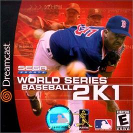 Box cover for World Series Baseball 2K1 on the Sega Dreamcast.