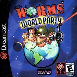 Box cover for Worms World Party on the Sega Dreamcast.