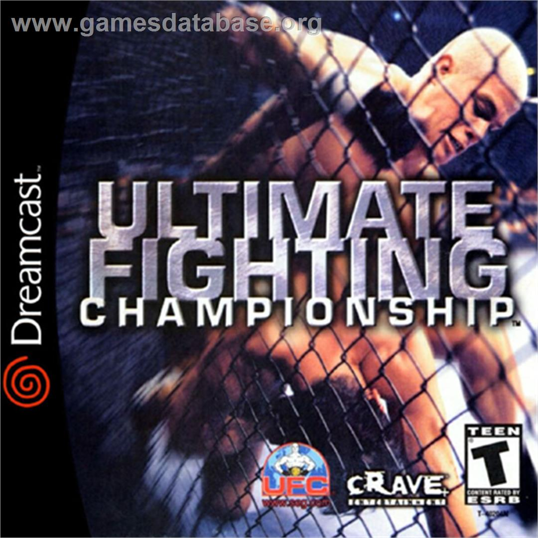 Box cover for Ultimate Fighting Championship on the Sega Dreamcast.