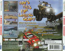 Box back cover for 4 Wheel Thunder on the Sega Dreamcast.
