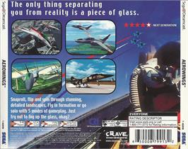 Box back cover for Aerowings on the Sega Dreamcast.