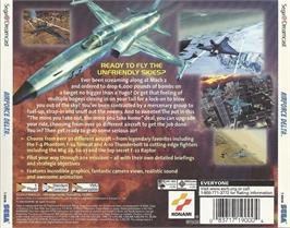 Box back cover for Airforce Delta on the Sega Dreamcast.