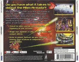 Box back cover for Armada on the Sega Dreamcast.