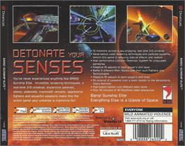 Box back cover for BANG! Gunship Elite on the Sega Dreamcast.