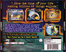 Box back cover for Bangai-O on the Sega Dreamcast.