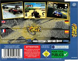 Box back cover for Buggy Heat on the Sega Dreamcast.