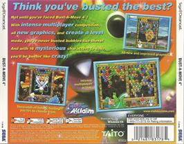 Box back cover for Bust a Move 4 on the Sega Dreamcast.