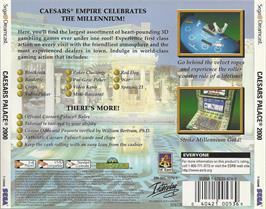 Box back cover for Caesar's Palace 2000: Millennium Gold Edition on the Sega Dreamcast.
