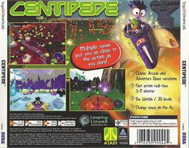 Box back cover for Centipede on the Sega Dreamcast.