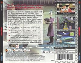 Box back cover for Chicken Run on the Sega Dreamcast.