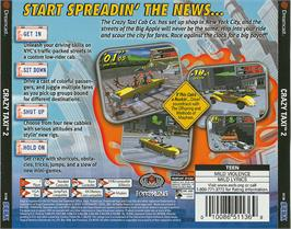 Box back cover for Crazy Taxi 2 on the Sega Dreamcast.
