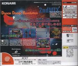 Box back cover for Dance Dance Revolution 2nd Mix on the Sega Dreamcast.