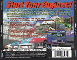 Box back cover for Daytona USA on the Sega Dreamcast.