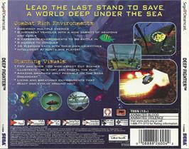 Box back cover for Deep Fighter on the Sega Dreamcast.