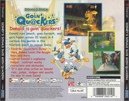 Box back cover for Donald Duck: Goin' Quackers on the Sega Dreamcast.