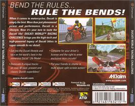 Box back cover for Ducati World: Racing Challenge on the Sega Dreamcast.