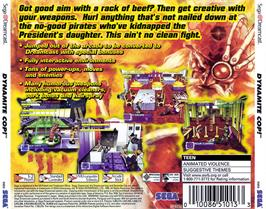 Box back cover for Dynamite Cop on the Sega Dreamcast.