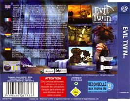 Box back cover for Evil Twin: Cyprien's Chronicles on the Sega Dreamcast.