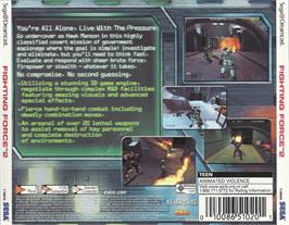 Box back cover for Fighting Force 2 on the Sega Dreamcast.