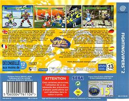 Box back cover for Fighting Vipers 2 on the Sega Dreamcast.