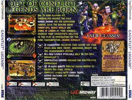 Box back cover for Gauntlet Legends on the Sega Dreamcast.