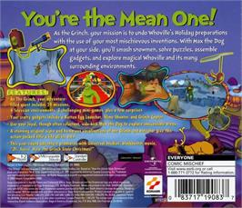 Box back cover for Grinch on the Sega Dreamcast.