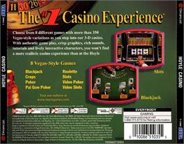 Box back cover for Hoyle Casino on the Sega Dreamcast.