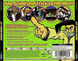Box back cover for Jet Grind Radio on the Sega Dreamcast.