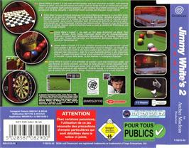 Box back cover for Jimmy White's 2: Cueball on the Sega Dreamcast.