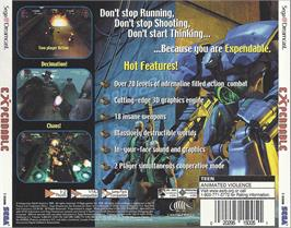 Box back cover for Millennium Soldier: Expendable on the Sega Dreamcast.