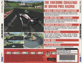 Box back cover for Monaco Grand Prix on the Sega Dreamcast.